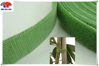 China Green Double Sided Hook And Loop Tape , Sticky hook loop tape custom printed supplier