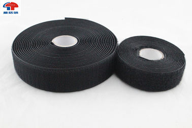 China Black Durable 100mm Sew On Hook And Loop Fastener Straps In Roll , strong sticky supplier
