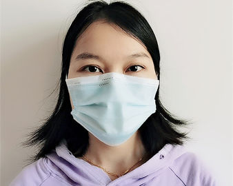 China Fast delivery 3ply face shield Earloop Disposable surgical Face mask for Virus and Dust Prevention supplier